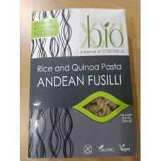 BIO XXI, RICE AND QUINOA PASTA ANDEAN FUSILI 250GR